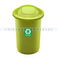 Push-Deckeleimer Top 50 L, grün mit Aufdruck Glas