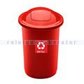 Push-Deckeleimer Top 50 L, rot mit Aufdruck Metall