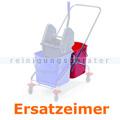 Putzeimer Clean Track für Reinigungswagen Duo 2x23 L rot