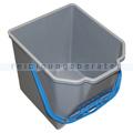 Putzeimer für Reinigungswagen 18 L grau mit blauem Griff