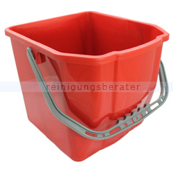Putzeimer für Reinigungswagen 18 L Rot