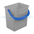 Putzeimer für Reinigungswagen 6 L grau mit blauem Henkel
