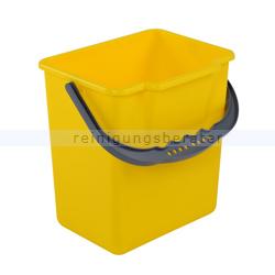 Putzeimer für Reinigungswagen Eimer 6 L, gelb