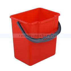 Putzeimer für Reinigungswagen Eimer 6 L, rot