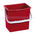 Putzeimer für Reinigungswagen PPS Pfennig Eimer 6 L rot