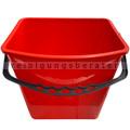 Putzeimer für Reinigungswagen RMV Eimer 6 L rot