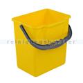 Putzeimer Meiko gelb mit Henkel, eckig, 6 L