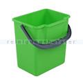Putzeimer Meiko grün mit Henkel, eckig, 6 L