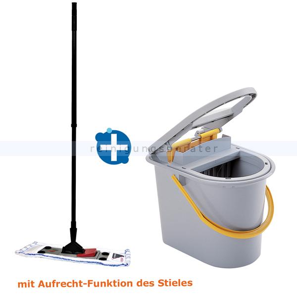 Putzeimer Mop-Set Sprintus Click to Mop 40 cm mit Wischeimer