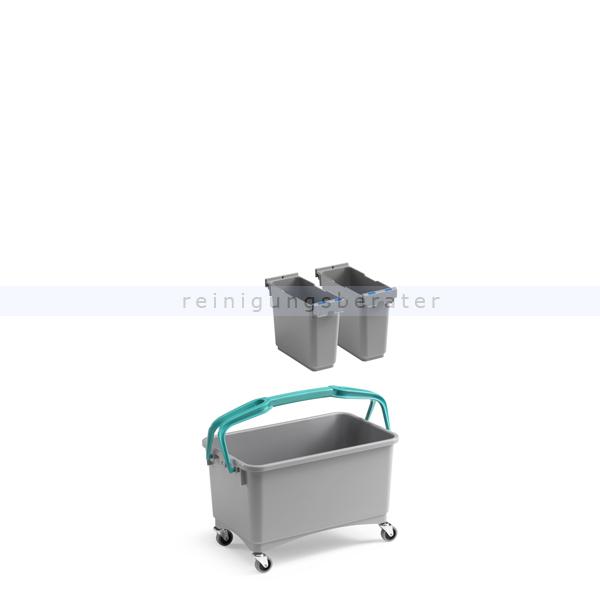 Putzeimer TTS Eroy E08 Mehrzweckeimer mit Lenkrollen 28 L