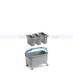 Putzeimer TTS Eroy E09 Mehrzweckeimer mit Lenkrollen 28 L