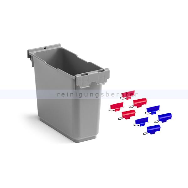 Putzeimer TTS Eroy Schale mit Farbclips 6 L grau