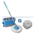Putzeimer Turbo Spin DELUXE PRO mit Schleuderfunktion blau