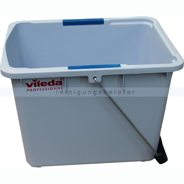 Vileda Ultraspeed Putzeimer 15 L Eimer ohne Wringer, mit blauen Clips als Farbkennzeichnung 508242