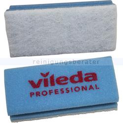 Putzschwamm Vileda kratzfrei blau