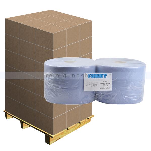 putztuchrolle blau 2 lagig 22x36 cm palette. Black Bedroom Furniture Sets. Home Design Ideas