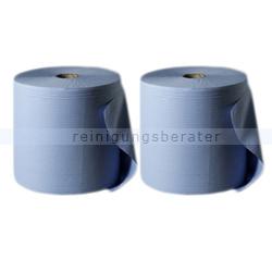 Putztuchrolle blau 2-lagig 36x36 cm