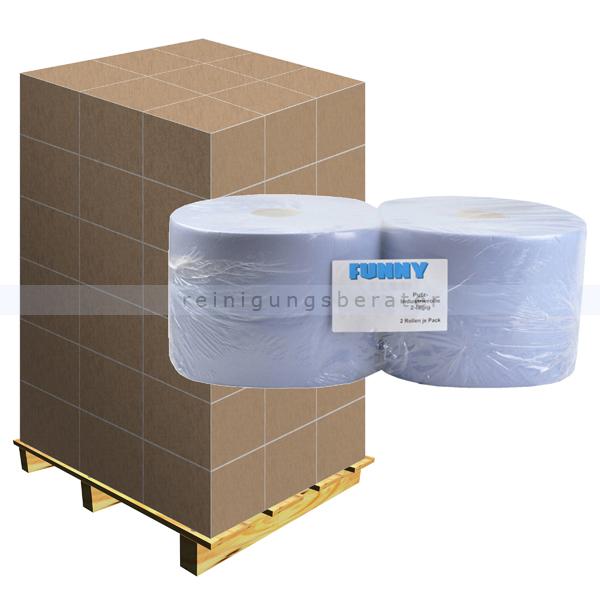 Putztuchrolle blau 2-lagig 36x36 cm, Recyclingpapier Palette