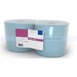 Putztuchrolle Ellis Premium 2-lagig 360 m blau
