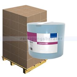Putztuchrolle Ellis Premium 3-lagig 360 m blau, Palette