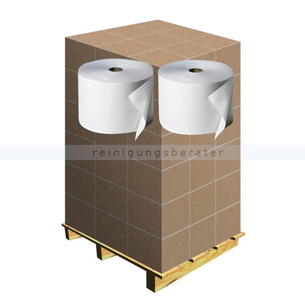 Putztuchrolle Fripa Tissue weiß 2-lagig 23x38 cm, Palette