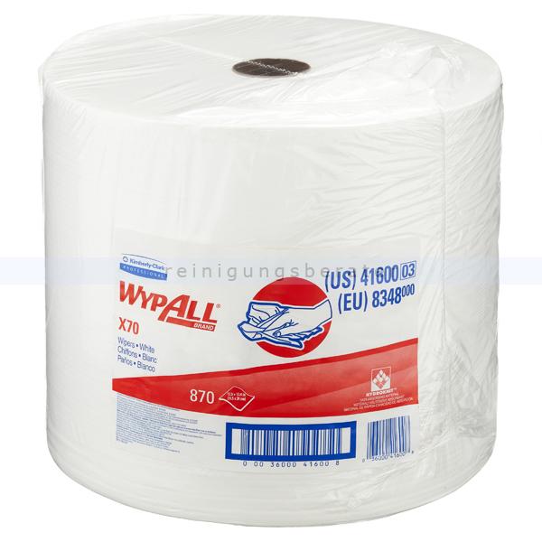 Putztuchrolle Kimberly Clark WYPALL 1-lagig, weiß 34x31,5 cm