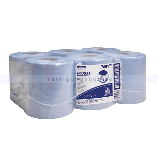 Putztuchrolle Kimberly Clark WYPALL L10 AIRFLEX RCS blau