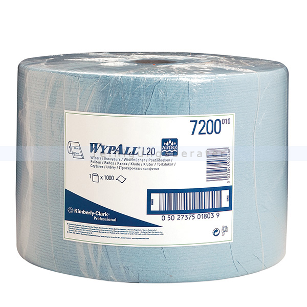 Putztuchrolle Kimberly Clark WYPALL L20 AIRFLEX blau