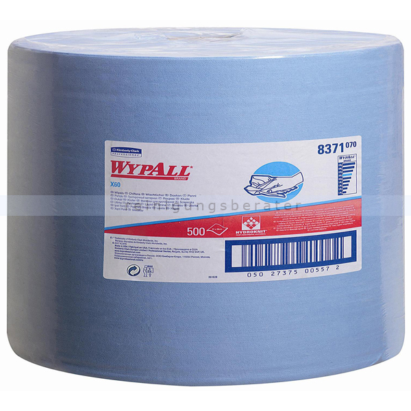 Putztuchrolle Kimberly Clark WYPALL X60 blau
