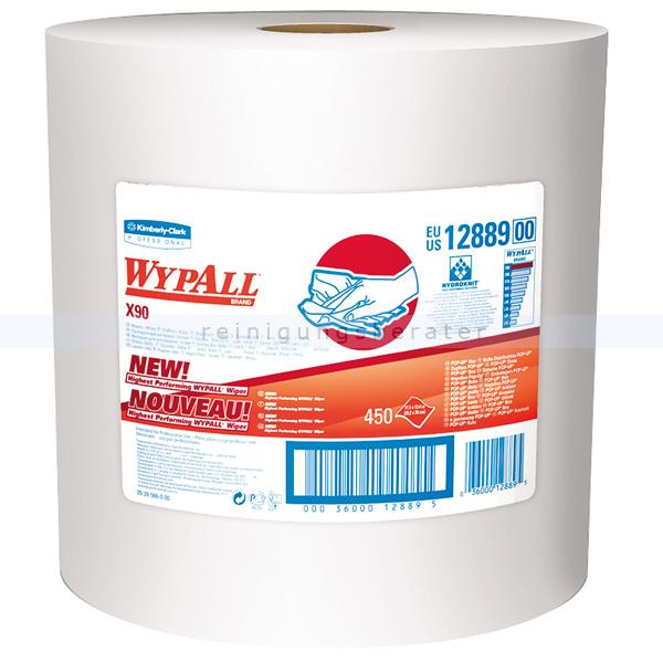 Putztuchrolle Kimberly Clark WYPALL X90 weiß