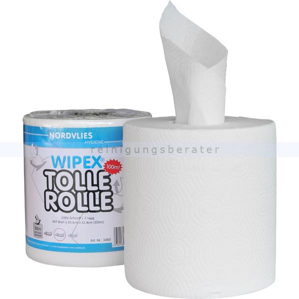 Putztuchrolle Nordvlies WIPEX TOLLE ROLLE 2-lagig 100 m weiß