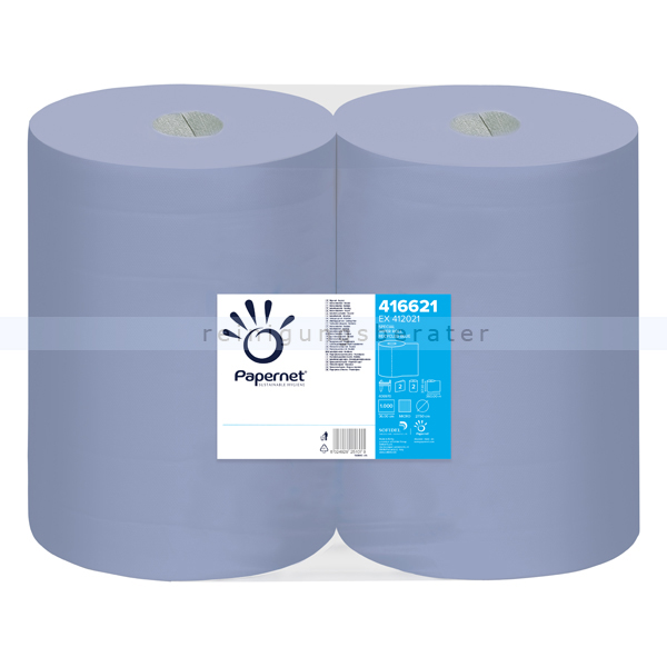 Putztuchrolle Papernet blau 2-lagig 37,5x36 cm
