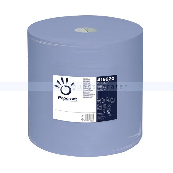 Putztuchrolle Papernet blau 3-lagig 37,3x36 cm
