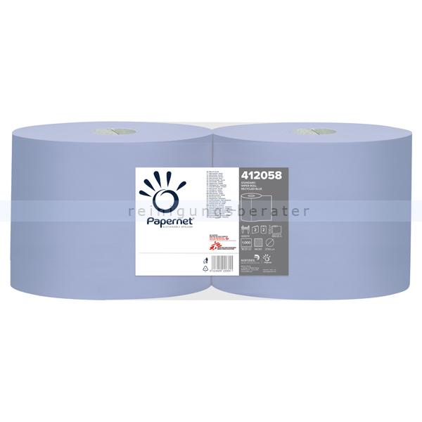 Putztuchrolle Papernet Tissue 2 lagig blau 360 m