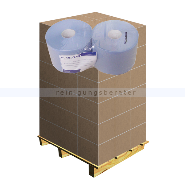 Putztuchrolle Papernet Tissue blau 2-lag. 21,5x36 cm Palette