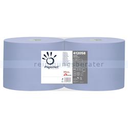 Putztuchrolle Papernet Tissue blau 2-lagig 22x36 cm