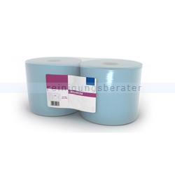 Putztuchrolle Premium 180-3 mit 500 Blatt blau