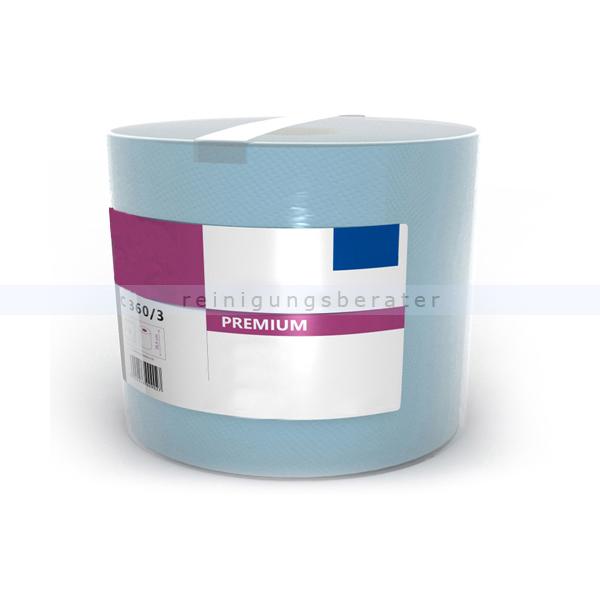Putztuchrolle Premium 360-3 1000 Blatt blau