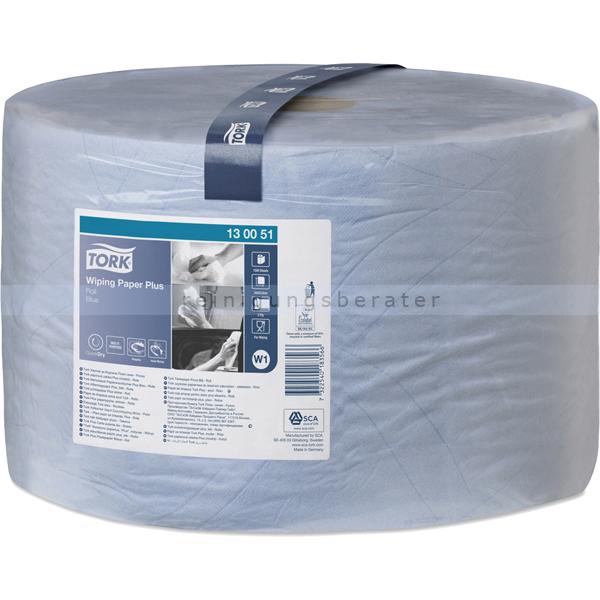 Putztuchrolle Tork Einwegtücher geprägt 24 x 34 cm blau