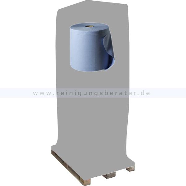 Putztuchrolle Wepa blau 3-lagig 38x35 cm, Palette