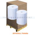 Putztuchrolle Wepa Satino Comfort 3-lagig 350 m blau Palette