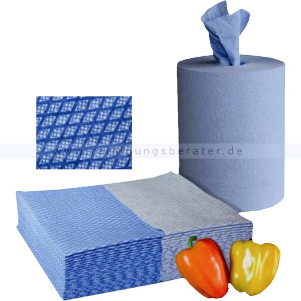 Putztuchrolle WIPEX-FSW blau Lebensmittelbereich, 30 x 38 cm