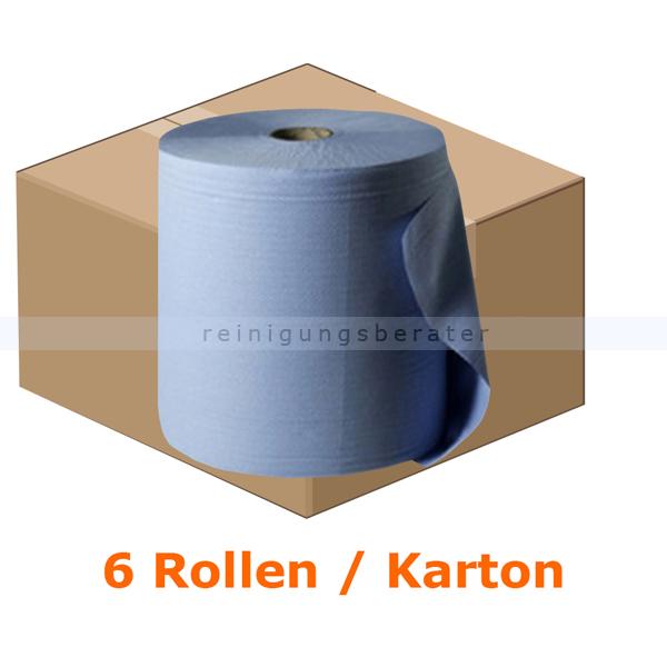 Putztuchrolle WIPEX Work M-Rolle blau 24x38 cm