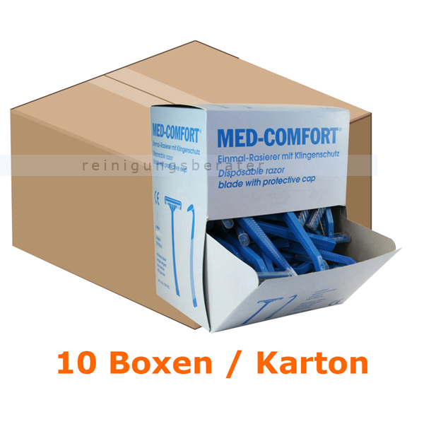 Rasierer Ampri Med Comfort Einwegrasierer 1000 Stück Einmalrasierer, zweischneidig, blau 9191