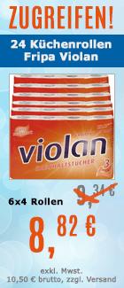 K�chenrollen Fripa Violan wei� 23x21 cm