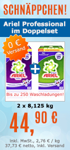 Waschmittel Ariel im zweier Set f�r bis zu 250 Waschladungen