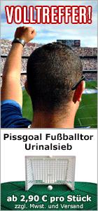 PISSGOAL - Das Fu�balltor als Urinalsieb