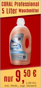 Flüssigwaschmittel CORAL Professional 5 L