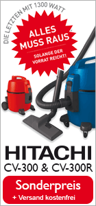 Hitachi Staubsauger CV 300 Abverkauf zum Sonderpreis
