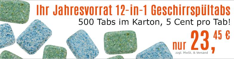 Geschirrspültabs - bei www.reinigungsberater.de